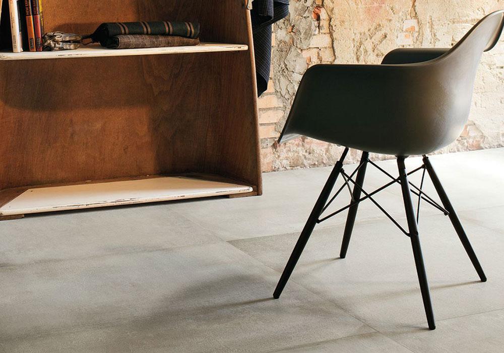 carrelage Leonardo waterfront imitation dalle ciment béton ciré - Kei-stone Aix en Provence