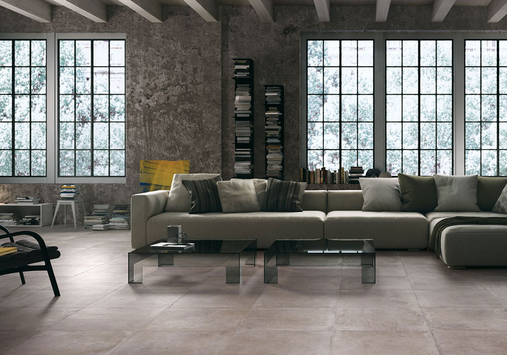 carrelage castelvetro bonding imitation dalle béton dalle ciment - Kei-Stone Aix en Provence