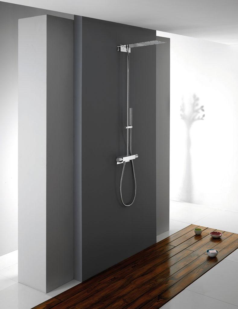 colonne de douche thermostatique Modul Ondyna chromé