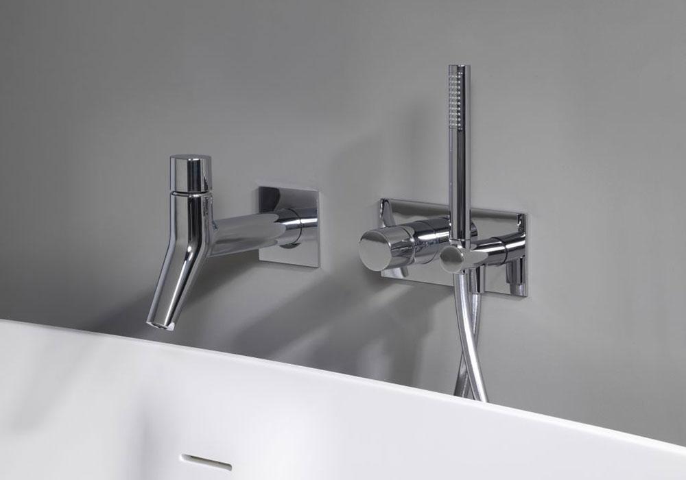robinet pour bain douche sur gorge Ondyna chromé