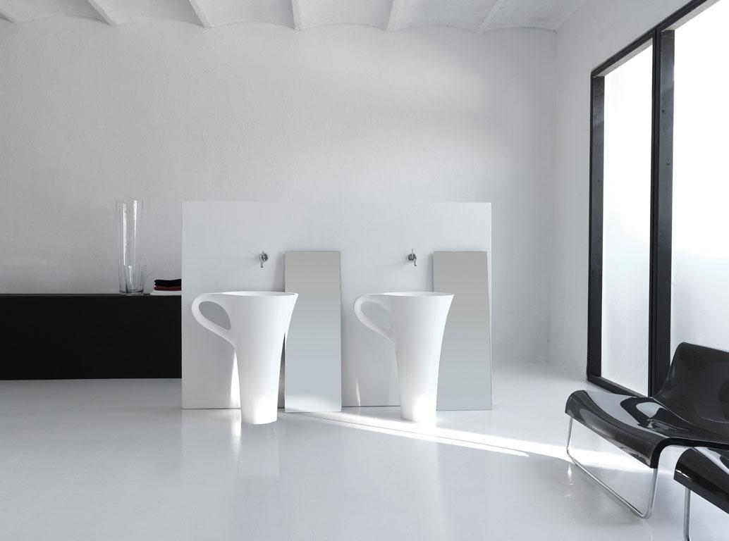 lavabo sur pied blanc Kei stone aix en provence provence alpes cote d'azur nice marseille toulon digne nîmes arles montpellier