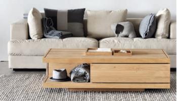 table basse bois chene clair massif blanc Ethnicraft