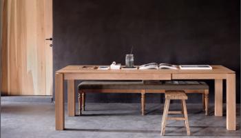 Table salon salle à manger en chene clair blanc massif Ethnicraft