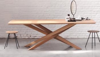 Table rectangulaire en chene clair blanc massif Ethnicraft