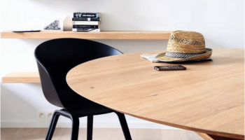 tables à manger en bois massif, table ronde ethnicraft