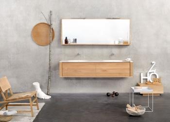 meuble de salle de bains Qualitime Ethnicraft chez Kei-Stone à Aix en Provence